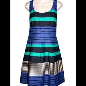 Ann Taylor Loft striped dress fit and flare SZ 12